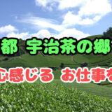 京都宇治茶の郷で和心感じるお仕事を*
