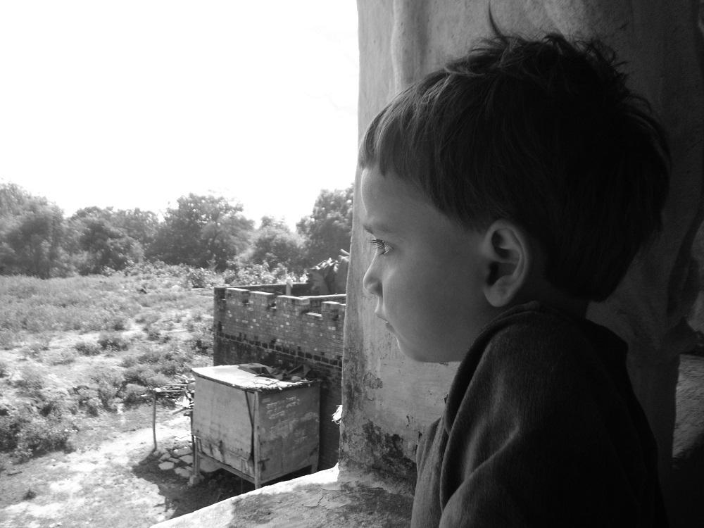 インドバラナシの子供の写真