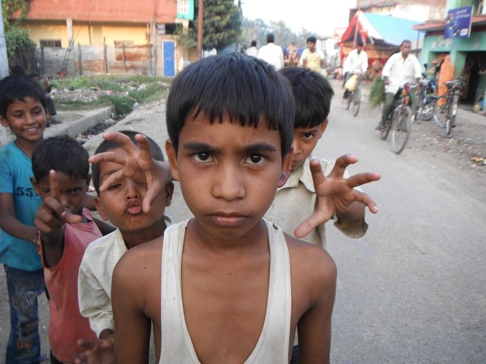 ネパールの子供達の写真