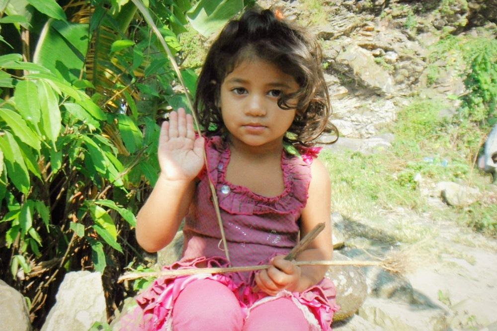 ネパール人の女の子の写真