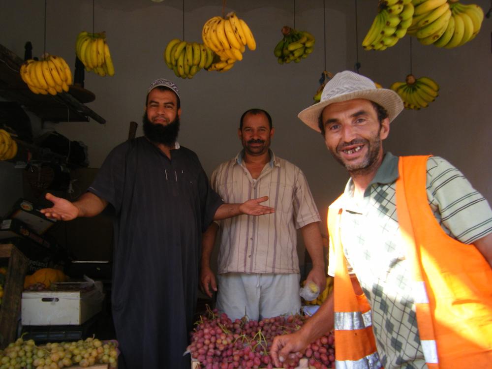モロッコの八百屋さんの写真
