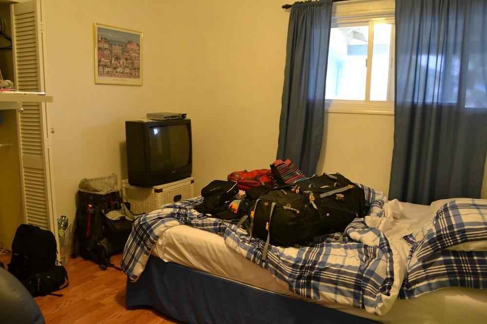 マージさんの家のベッドの写真