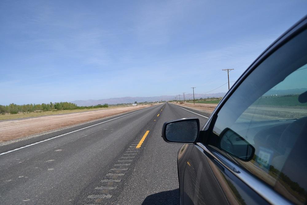アメリカの広大な大地を車内から撮影2