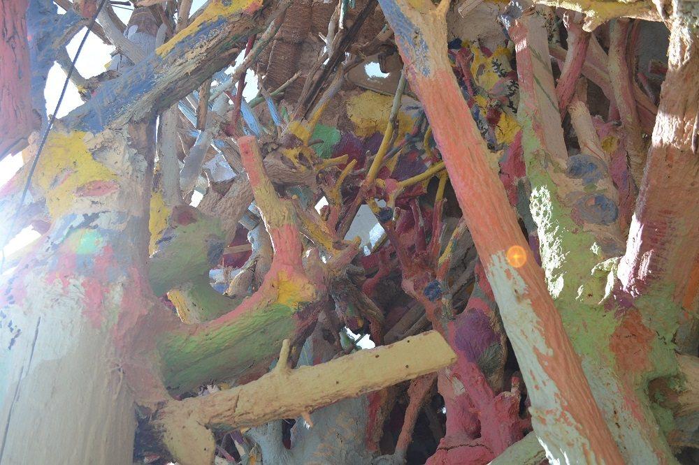 サルベーションマウンテンの木の写真
