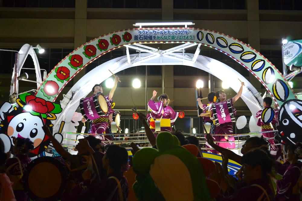 岩手|盛岡さんさ踊りパレード(自由参加の輪踊り・ステージ)の写真