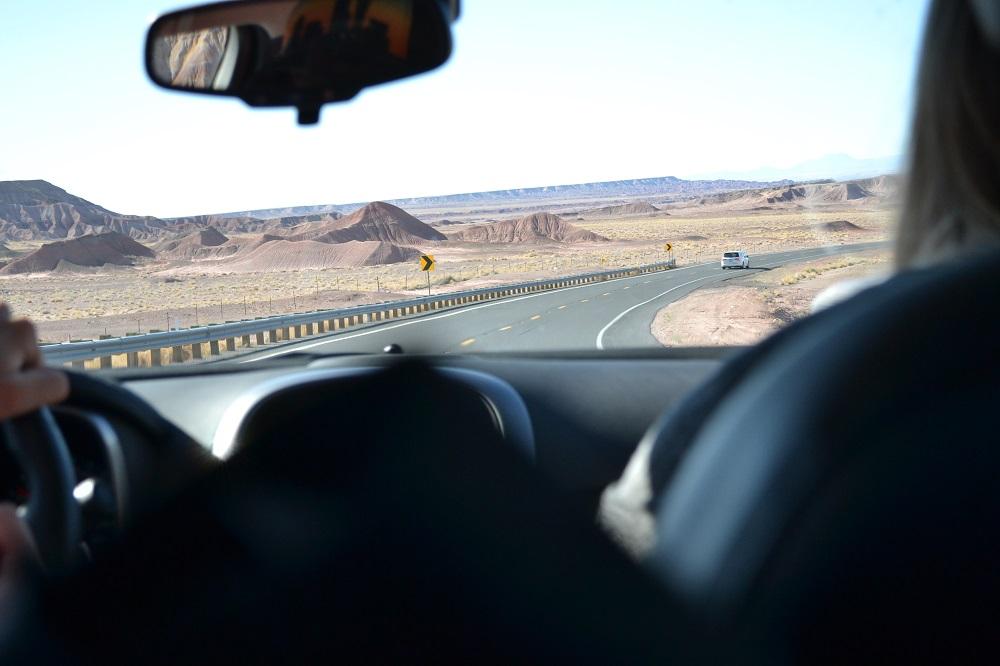 アメリカの道と山2の写真
