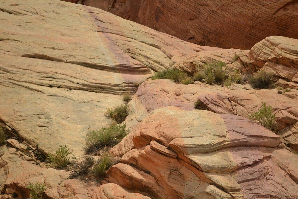 フランス国旗のような岩の写真