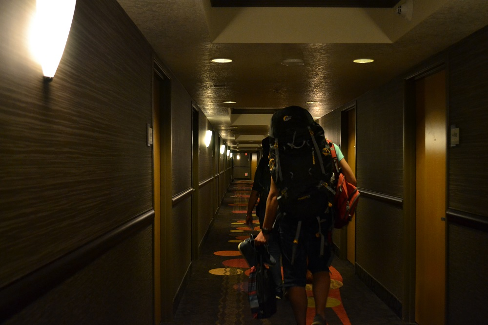 ストラトスフィアホテルの通路の写真