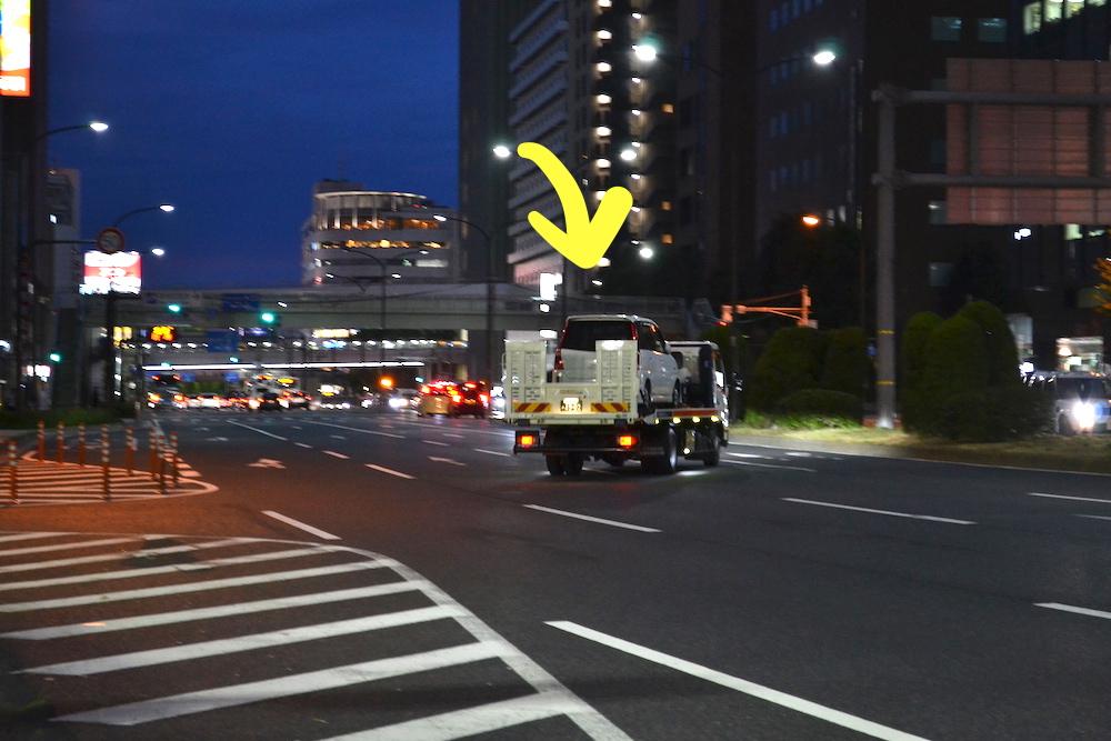 車の故障でロードサービス(レッカー)3の写真
