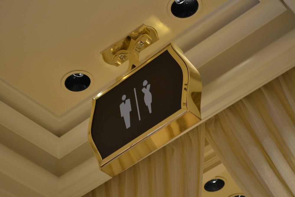 ラスベガスの豪華すぎるトイレ!今後これを超えることは無いな。