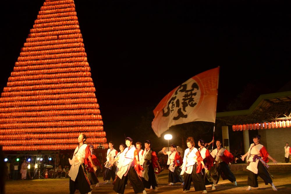 長崎県佐世保市江迎千灯籠まつり(よさこい踊り)の写真