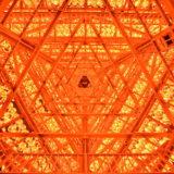 長崎県佐世保市江迎千灯籠まつり(灯籠タワーの中)の写真