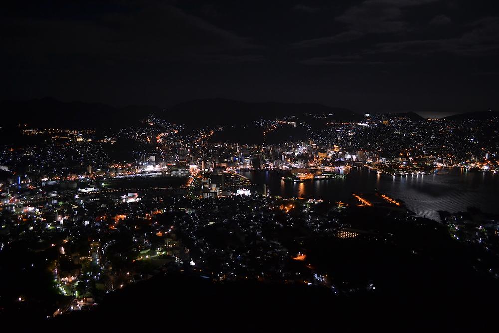 日本三大夜景|長崎県長崎市稲佐山からの景色の写真