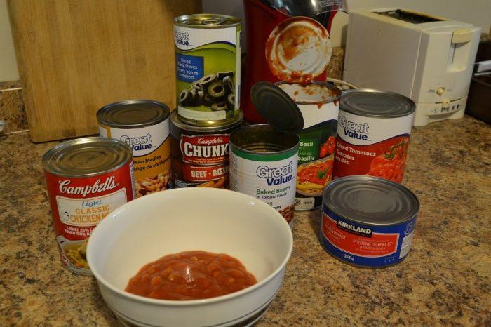 北米の缶詰の写真