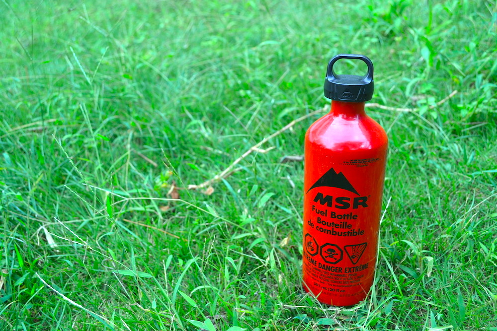 ガソリンバーナー燃料ボトル(MSR590ml)の写真