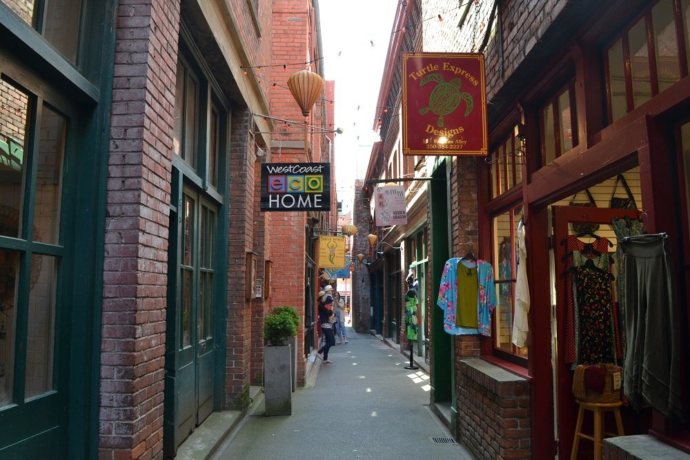 ヴィクトリア路地裏のお店の写真