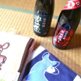 ボランティアでいただいた日本酒の写真