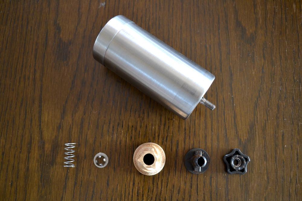 Homdox手動コーヒーミル(分解お手入れ)の写真