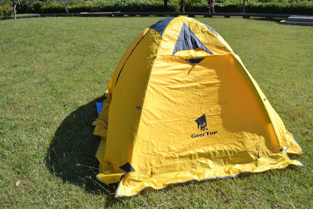 GeerTop2人用テントの貼り方(フライシート・ペグなし)の写真