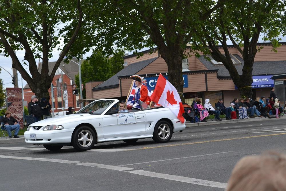 イギリスとカナダの国旗の写真