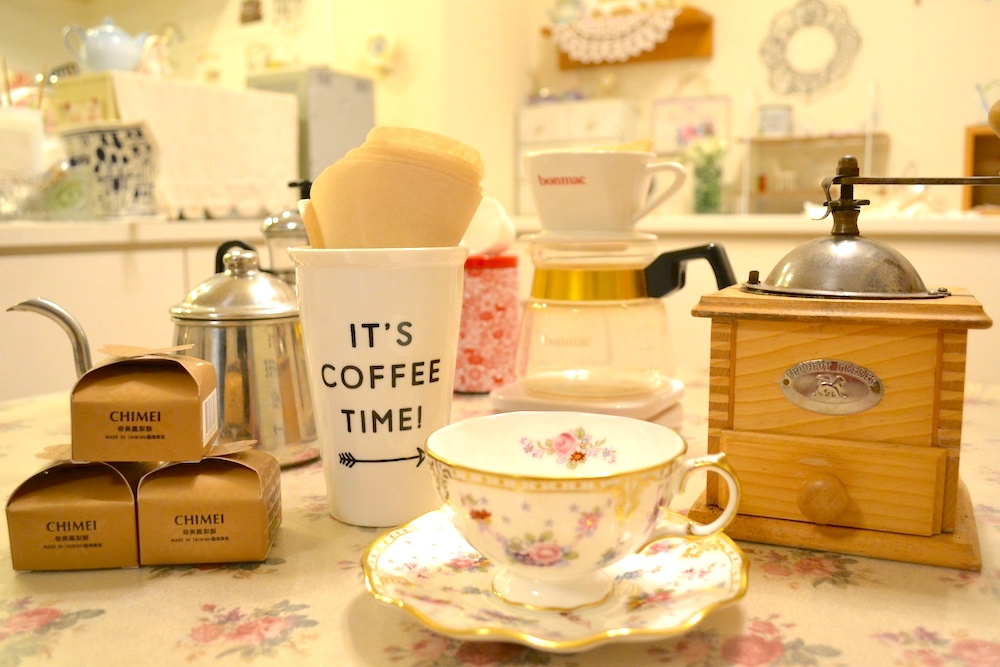 Eちゃんのコーヒーセットの写真