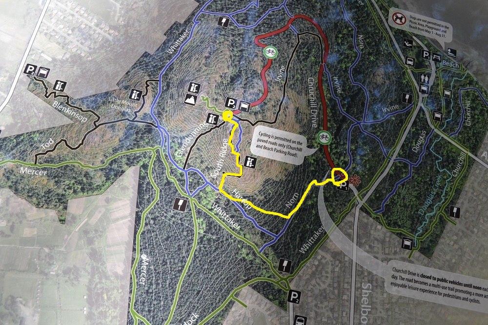ダグラス山ハイキングコースの写真