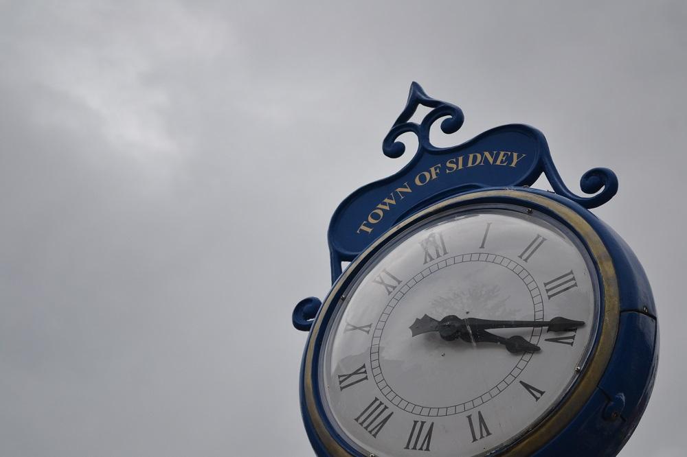 カナダのシドニーの時計の写真