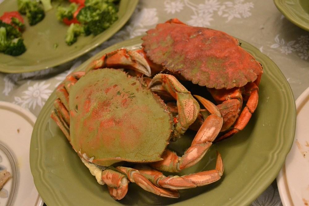 カナダのシドニーの茹で蟹の写真