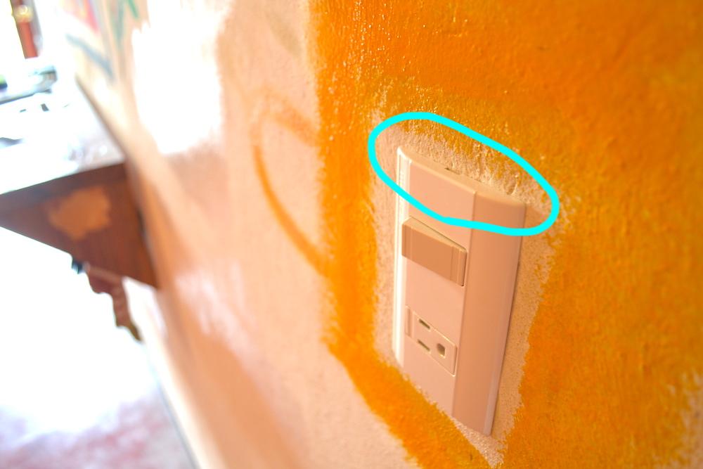 掃除のポイント(電気のスイッチの上)の写真