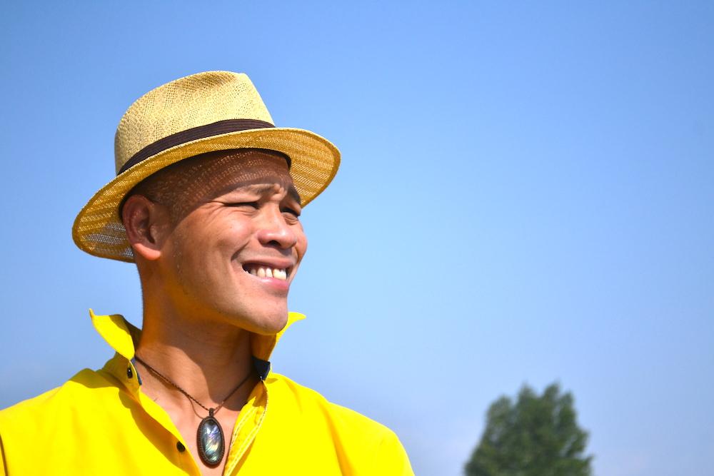 サンクリストバル|宿CASA KASAオーナーのタケシさん(すごい顔です)の写真