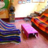 メキシコ・サンクリストバル|カサカサ(共有スペースと暖炉)の写真