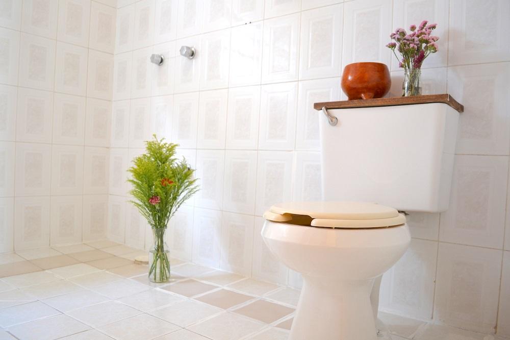 メキシコ・チアパス州サンクリストバルの日本人宿カサカサの2階トイレの写真