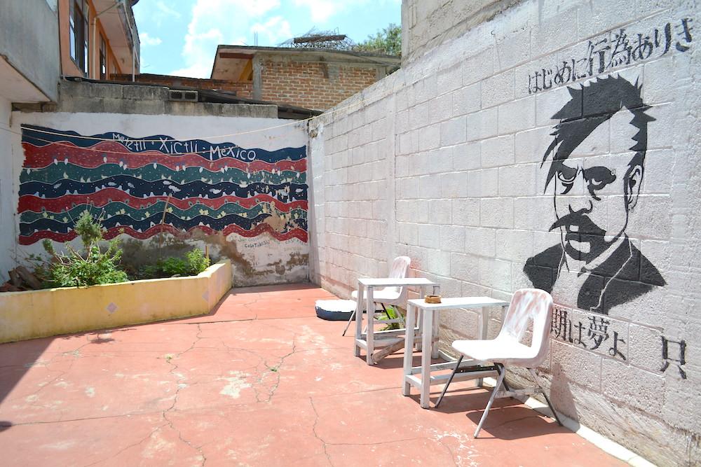 メキシコ・サンクリストバル|カサカサ(中庭)の写真
