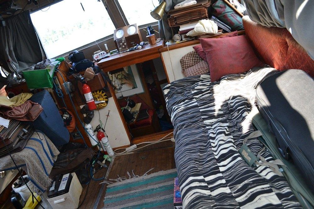 船の中の寝床の写真