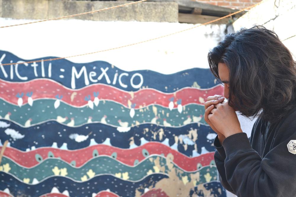 メキシコ・サンクリストバルのお宿カサカサ|ハーモニカを演奏するの写真
