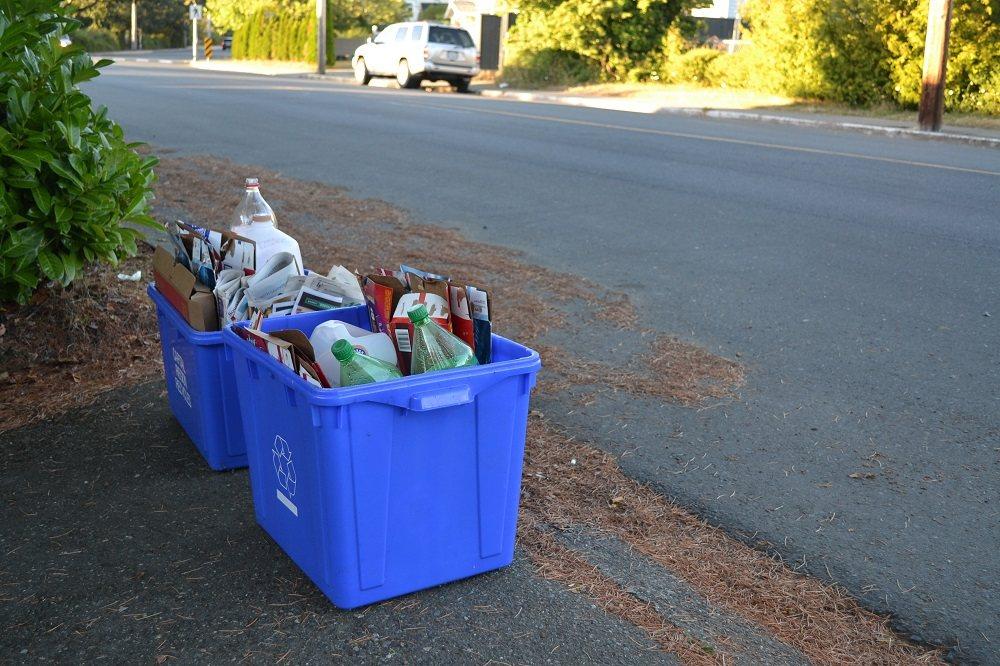 カナダのリサイクルコンテナの写真