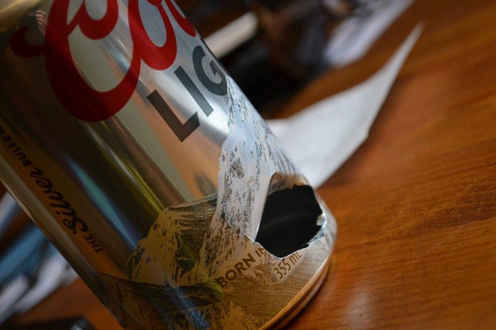 ビールの空き缶の写真