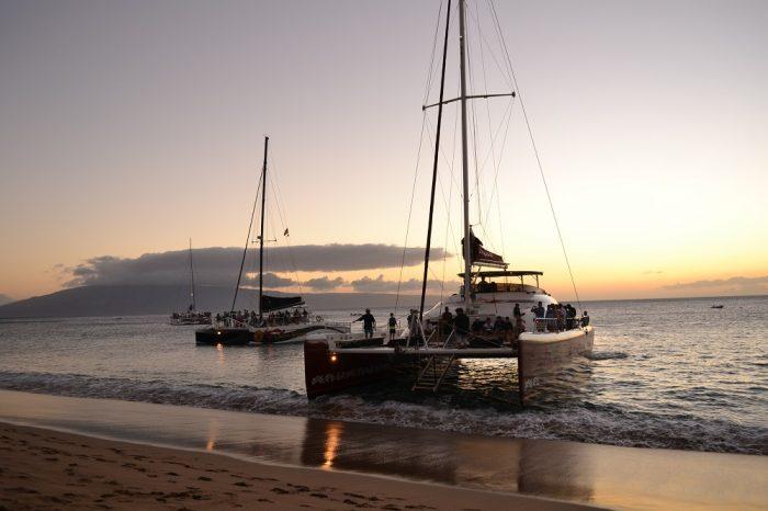 マウイ島のサンセットクルーズの写真