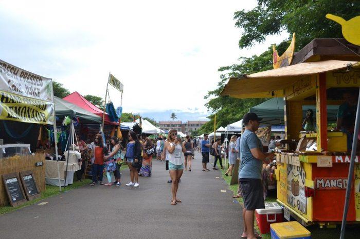 マウイ島スワップミートマーケットの写真