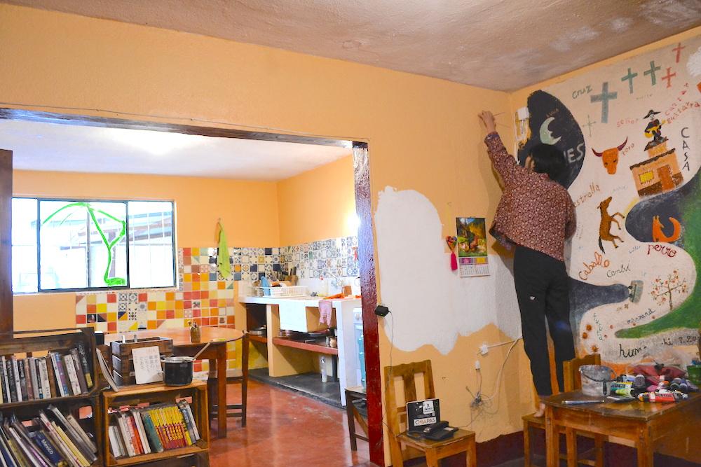 河野ルル|メキシコで壁画制作(CASA KASAスタート)の写真