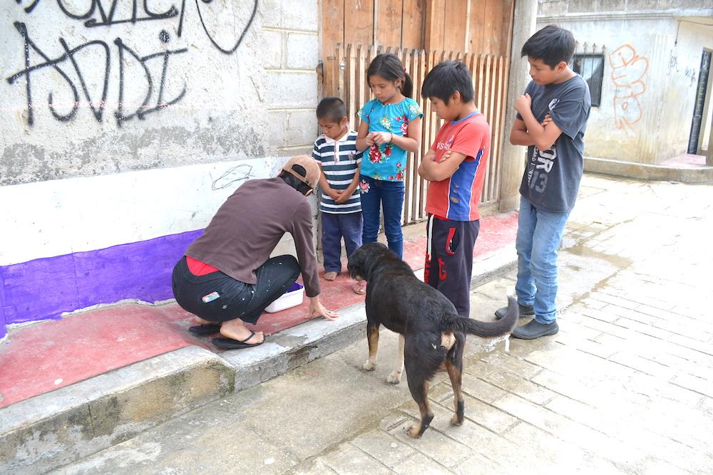 河野ルル|メキシコで壁画制作(注目(笑))の写真