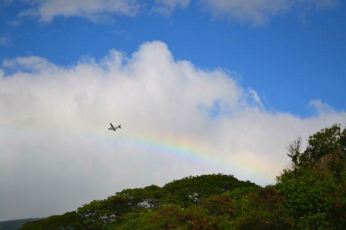 ハワイ・マウイ島の虹の写真