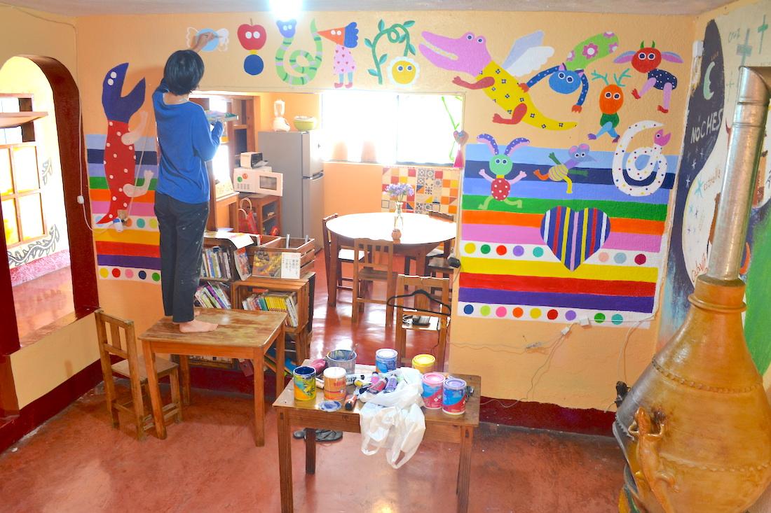 河野ルル|メキシコで壁画制作(CASA KASA途中経過3)の写真