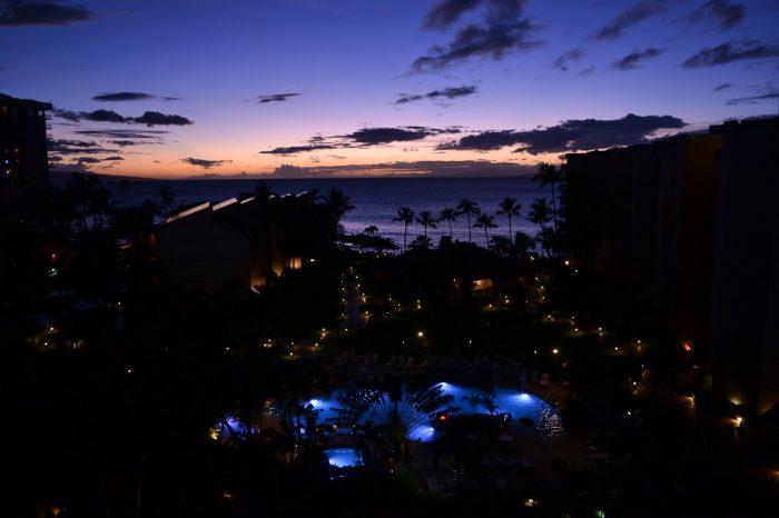 アストンカアナパリショアズホテルの夜景の写真