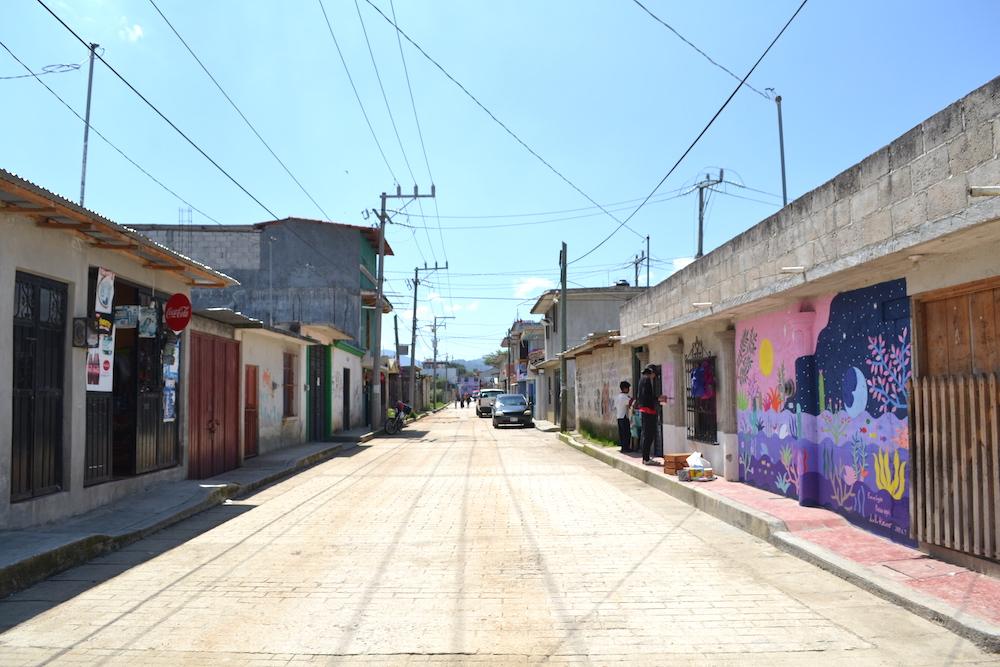 河野ルル|メキシコで壁画制作(壁画と道)の写真