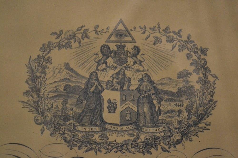 フリーメイソンの会員の証明書の写真