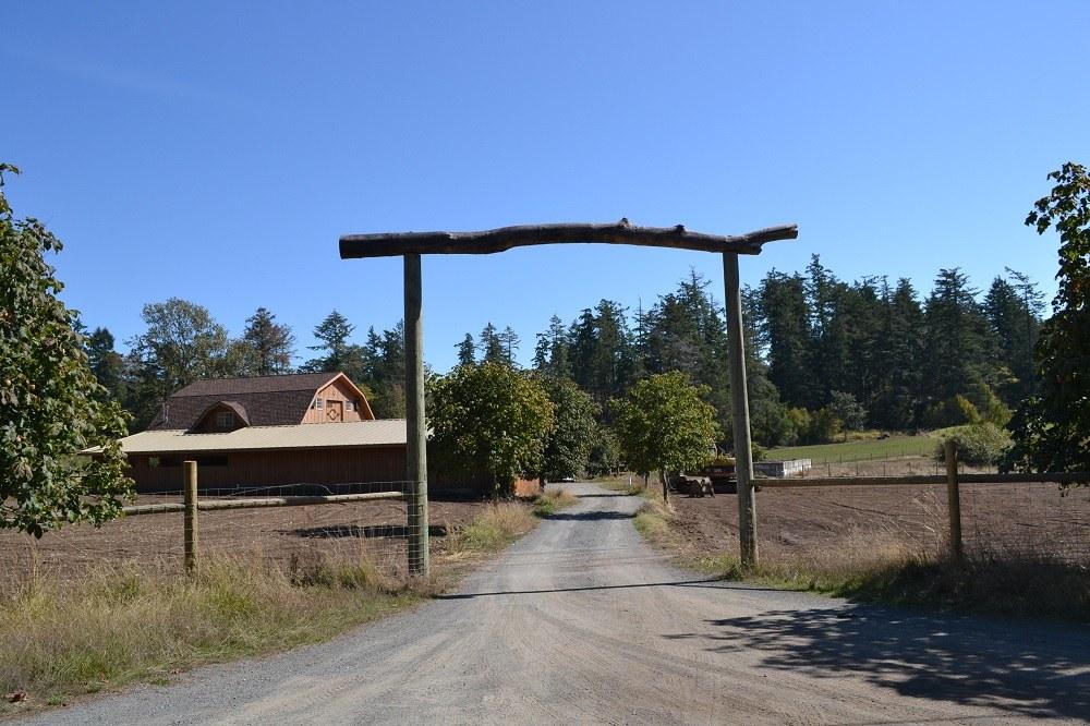 ビクトリアの牧場のゲートの写真