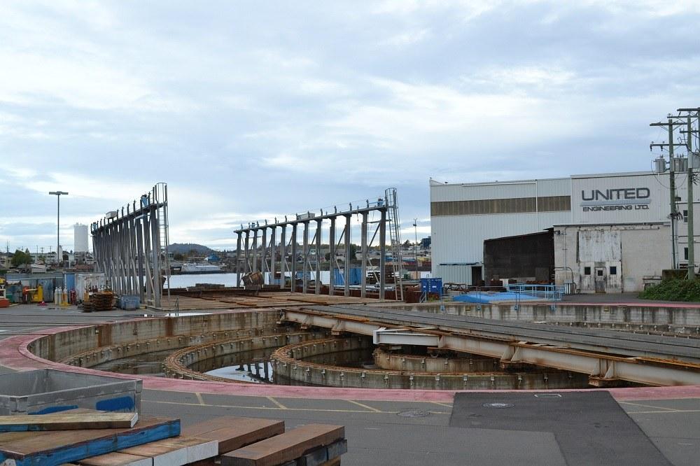 ビクトリアの船の修理工場の機械の写真