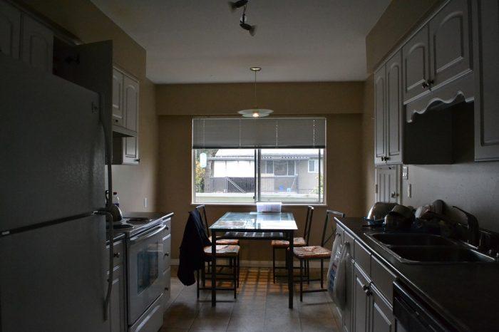 バンクーバーのAirbnbのキッチンの写真