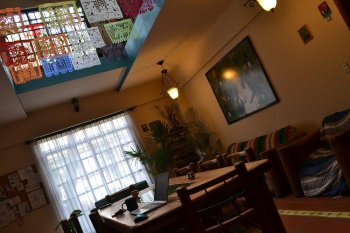 サンフェルナンド館の談話スペースの写真